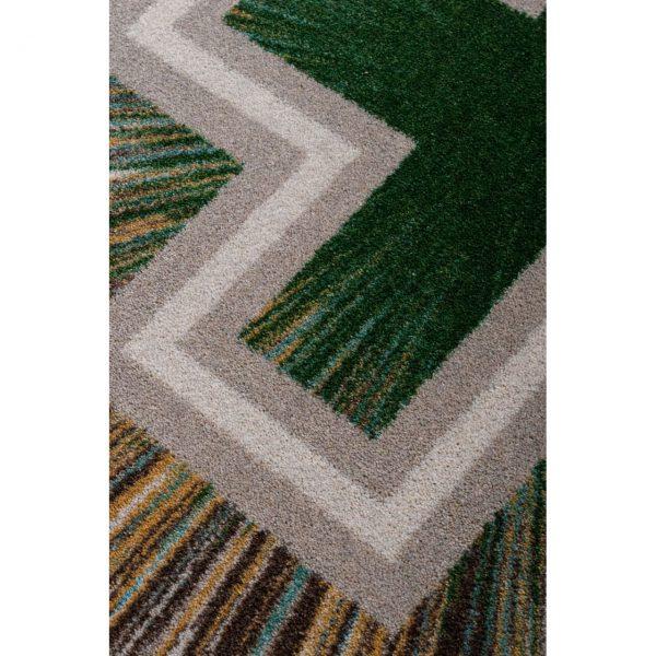 Green area rug design