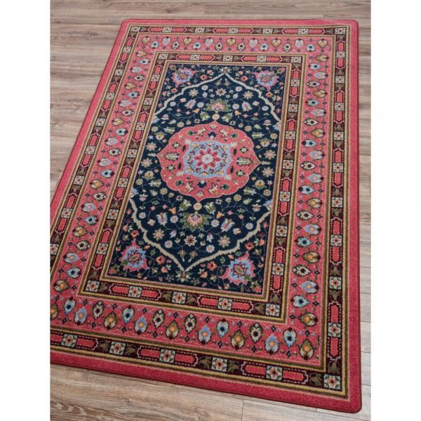 Zanza Cardinal Persian Rug in pink and blues