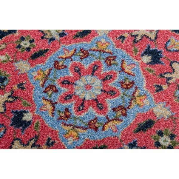 pinkish colors of a Persian designed rug