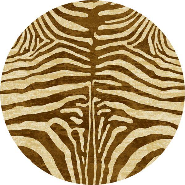 round animal rug