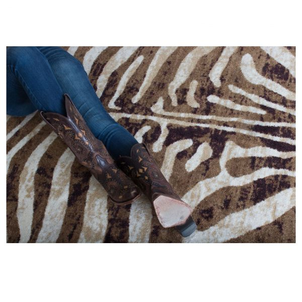 animal stripped rug