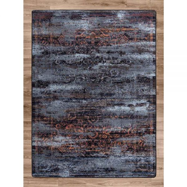 Montreal area rug in distressed elements