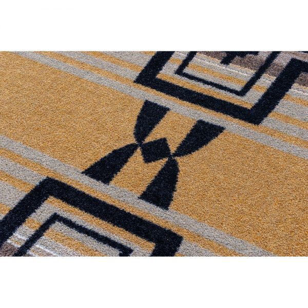 Closeup of Brazos old gold rug