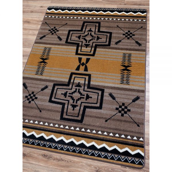 Brazos Old Gold rug true colors picture