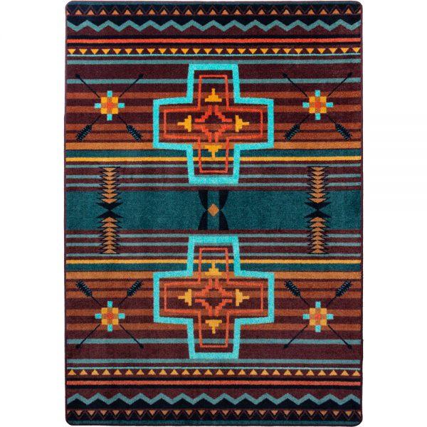 Southwest cross rug design