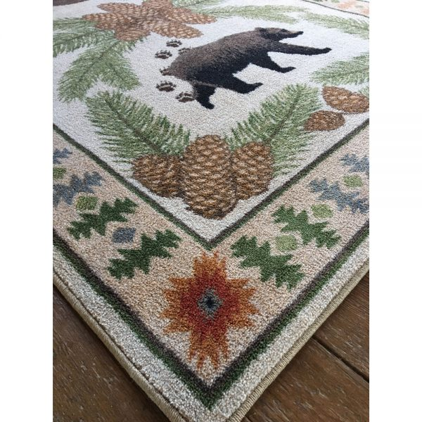Black bear camp rug design