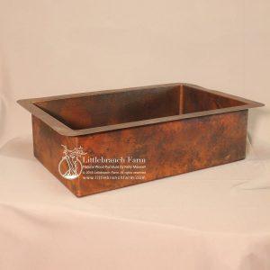 Rustic under mount copper kitchen sink