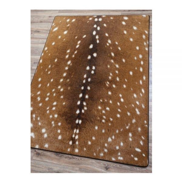 Printed Fawn deer rug