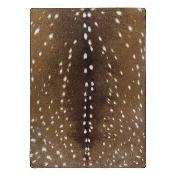 Fawn deer area rug