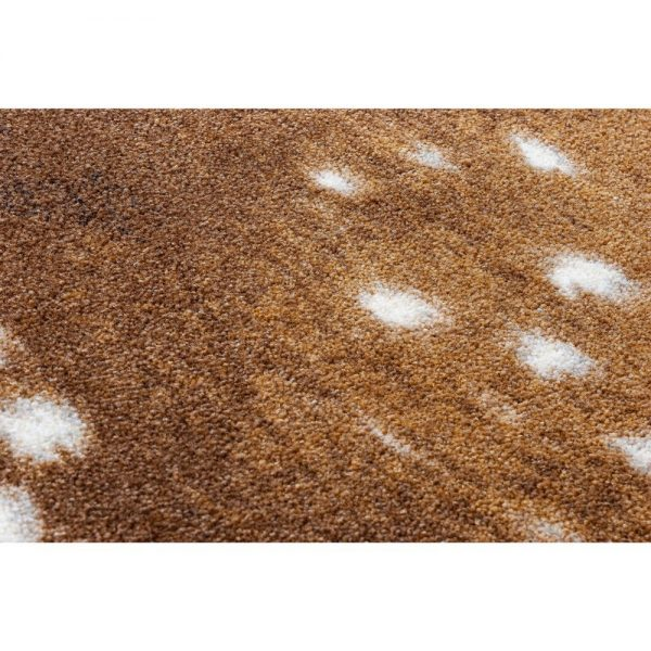 Closeup of fawn deer rug