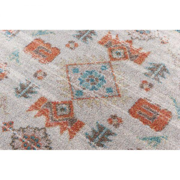 Closeup of persian rug design