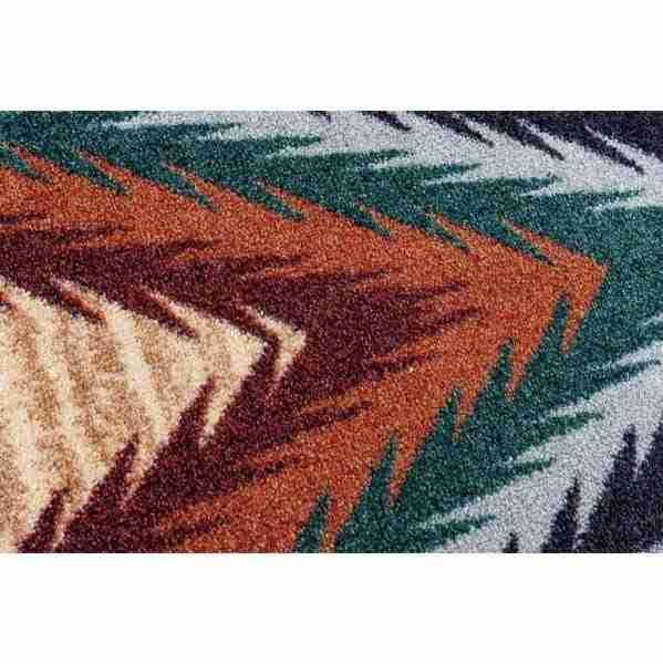 Detail of razzle rug.