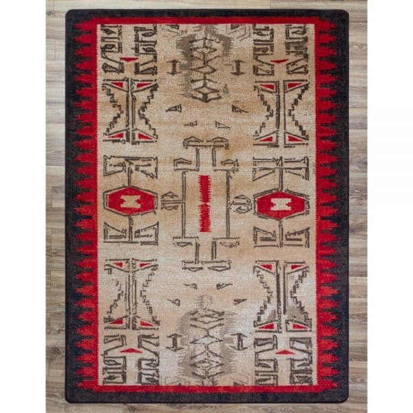 Red and tan southwest rug