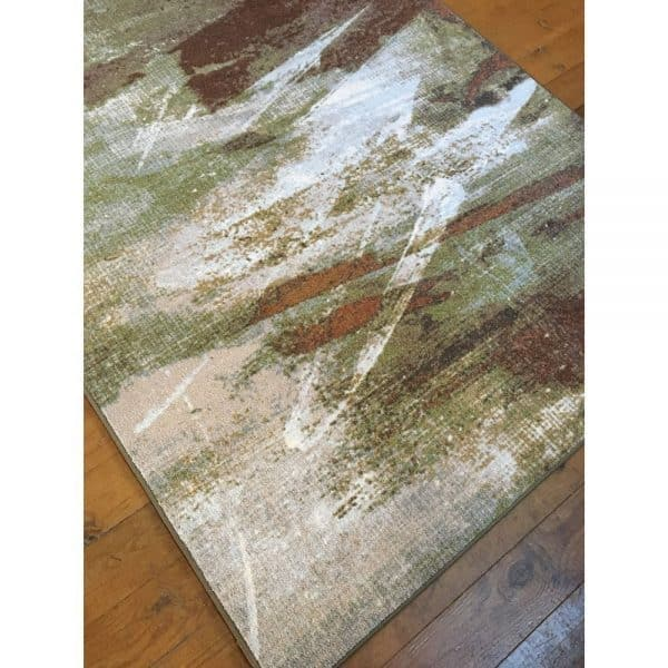 Abstract painting on a rug