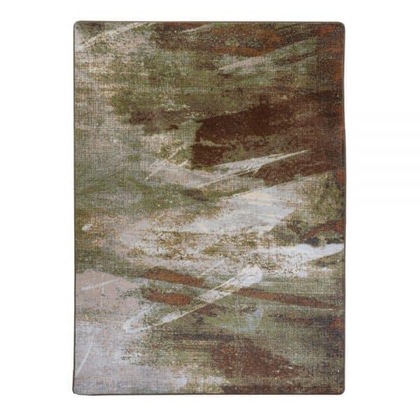 Artistic green rug