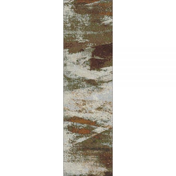 Abstract color runner rug