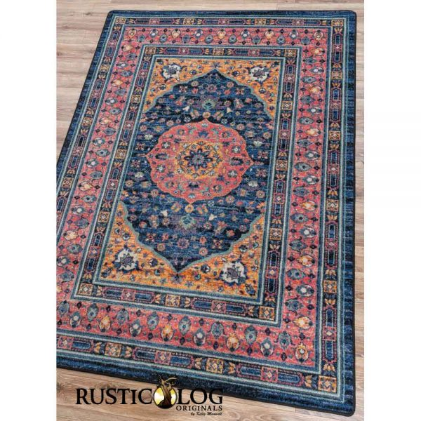 Traditional Persian area rug design.
