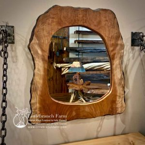 Custom rustic redwood mirror