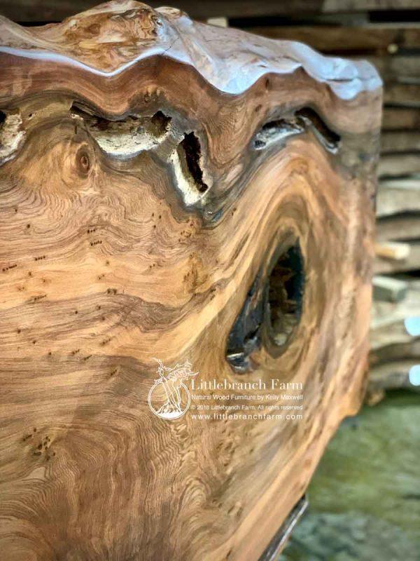 Raw edge redwood