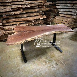 Walnut live edge standing desk.