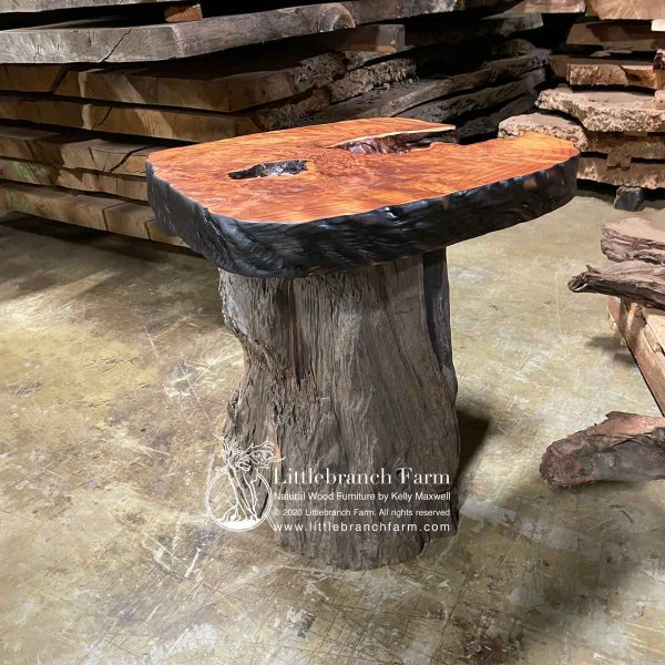 Natural wood rustic furniture design.