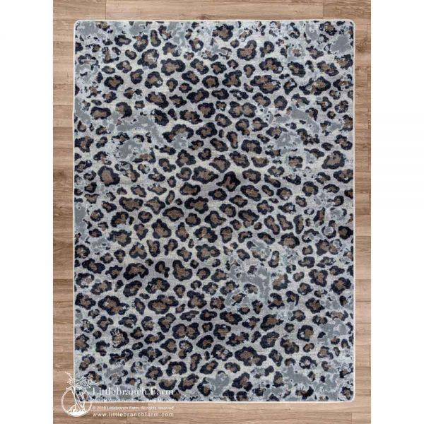 Leopard lounge area rug