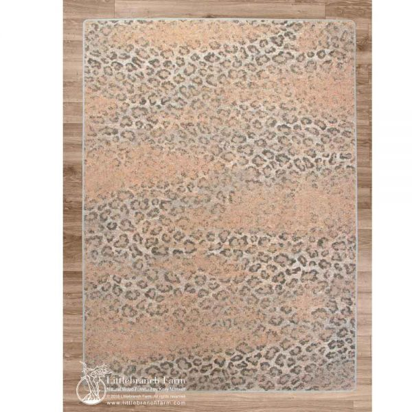 Blush snow leopard rug
