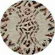 Round curio rug