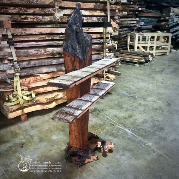artistic functional redwood table