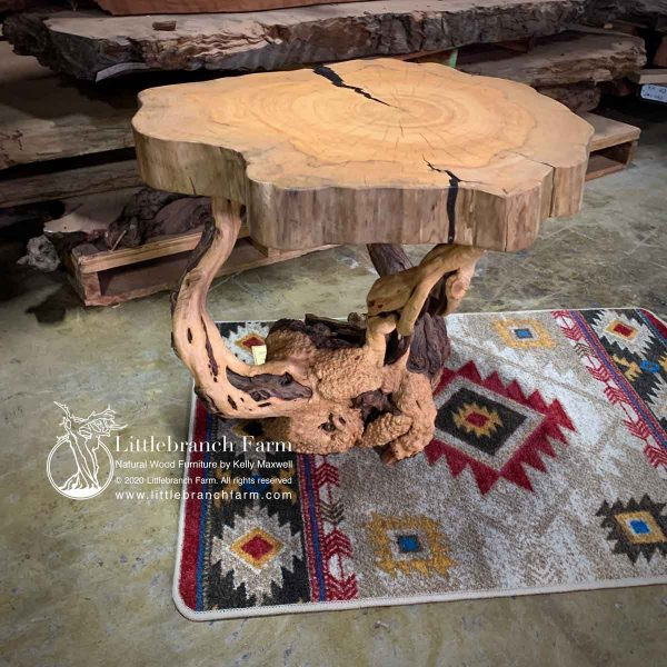 Artistic live edge furniture.
