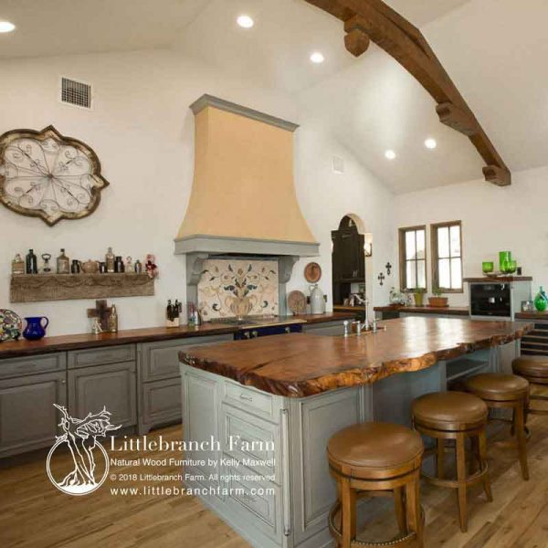 Kitchen natural wood cooutertops