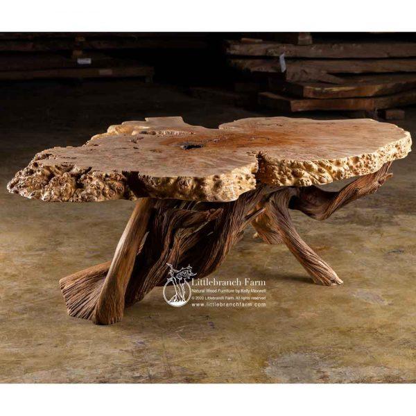 Natural burl wood furniture