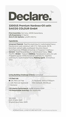 The declare cover letter for Saicos.