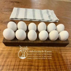 Walnut fresh egg storage tray.