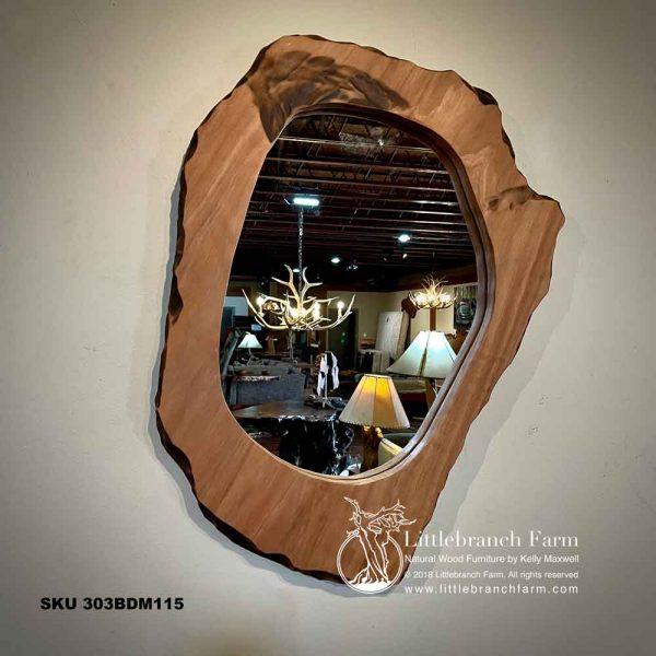 Natural wood mirror