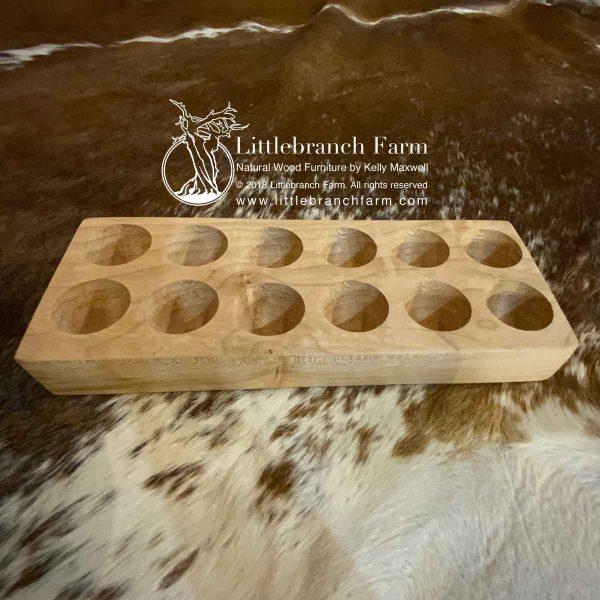 Maple wood egg storage tray.